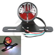 LED TailLight License Plate Bracke Black tail Light For Harley Bobber Chopper