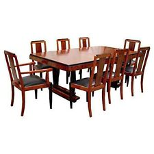 Fabulous Antique 9 Pc. Art Deco Dining Set #6116