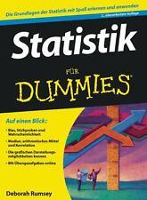 Rumsey, D: Statistik für Dummies von Deborah Rumsey (2010, Taschenbuch)