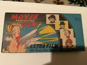 1930's comic character movie projector gun box Dick Tracy  Orphan Annie  1937