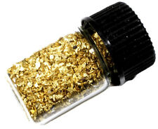 .125 GRAMS ALASKAN YUKON BC NATURAL PURE GOLD NUGGETS MESH #30 W BOTTLE (#B300)