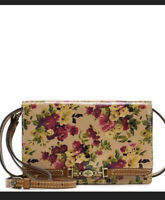 PATRICIA NASH ANTIQUE ROSE COLLECTION LEATHER APRICALE CROSSBODY BAG NWT $169