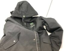 Monster Energy Coat XL black jacket polyester zipper hood genuine snow winter