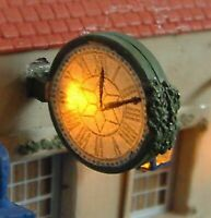 Civic Clock Lights Up F229 UNPAINTED OO Scale Langley Models Kit 1/76 Lights