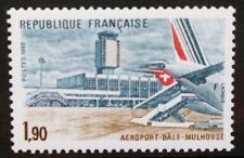 FRANCE 1982 Basel-Mulhouse Airport Aircraft. Set of 1. Mint Never Hinged. SG2524