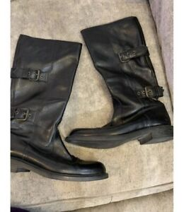Moschino Leather Boots Size 5