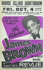 James Brown Vintage Soul Music 1963 A4 Concert Poster Rhode Island