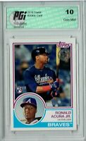 Ronald Acuna Jr. 2018 Topps #83-16 1983 Throwback SP Rookie Card PGI 10