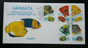 Vanuatu Angelfish 1997 Ocean Fish Underwater Life Marine (stamp FDC) *see scan