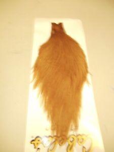 Cabelas #1 grade dry fly tying neck. Ginger.