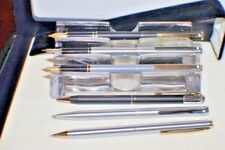 6 Pcs Sheaffer' s Chrome Grey Black Silver Fountain Pen M 240 M Nib & Ball Point