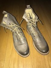 FRYE Women's Veronica Combat Lace-Up Ankle Boot Light Brown Size US 8.5