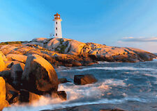 Peggy's Cove lighthouse, Canada - 3D Lenticular Postcard Greeting Card