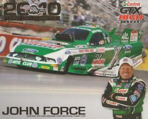 2011 John Force Castrol GTX Ford Mustang Funny Car NHRA Hero Card