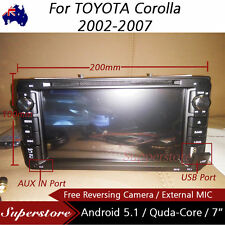 """7"""" Android Quad Core Car DVD GPS HEAD UNIT PLAYER For TOYOTA Corolla 2002-2007"""
