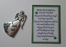 x Good Luck IRISH BLESSINGS ANGEL CHARM POCKET figurine TOKEN CHARM Ganz