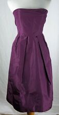 J Crew Dress Size 6 Lorelei Silk Taffeta Strapless Pockets Spiced Wine New