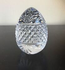 Collectible Crystal Egg Shaped Paperweight, Made In France