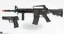 M4 / M16 COLT Military Airsoft Assault Rifle + Sidearm Gun/Pistol + Many Extras