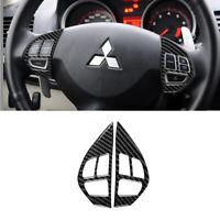 Carbon Fiber Steering Wheel Button Cover Trim For Mitsubishi Lancer Evo 2008-15