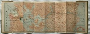 Vintage ca 1910s General Map of the Panama Canal William F Baxter fold-out color