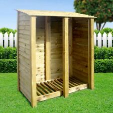More details for cottesmore 6ft outdoor wooden log store ***clearance stock*** - uk hand made