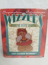 Janlynn Sugarplum Express Wizzers Cross Stitch Kit 1317 Cookie Woman Ornament