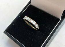 Half Eternity Ring 14k Gold 3mm with Baguette Diamonds 0.50ct UK J US 4 3/4 48.7