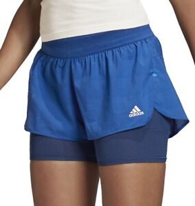 adidas HEAT.RDY 2 in 1 Womens Training Shorts - Blue
