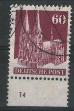 Nicht bestimmte gestempelte deutsche Briefmarken der alliierten Besatzung