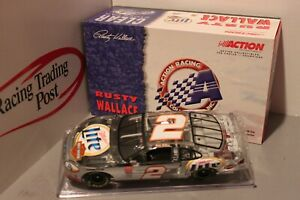 2001 Rusty Wallace Miller Harley Davidson Clear Car 1/24 Action NASCAR Diecast