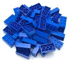 LEGO 50 Neuf Bleu Briques 2 x 4 Pois Construction Blocs Pièces