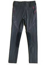 Irideon Knee Patch Breeches Gray Pink Stitching & Mesh Youth Kids 10