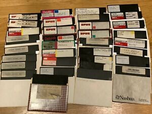 34 used floppy disks for Tandy Radio Shack CoCo 3 Color Computer software games