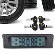 Solar Energy Wireless Car TPMS Tire Temp+Pressure Monitor Alarm System