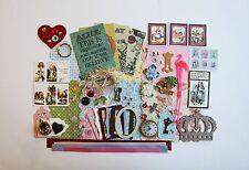 Vintage Alice in Wonderland Chipboard Mini Book Album DIY Kit (Scrapbook)