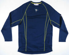 NWOT Tampa Bay Rays Blue Majestic Authentic MLB Baseball Mens Pullover S