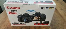 Canon EOS Rebel T7 24.1MP Digital Camera - Black (Kit with 18-55mm and 75-300mm