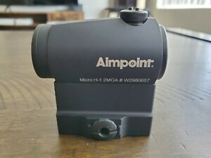 Aimpoint Micro H-1 Red Dot Sight w/ Midwest Industries QD Mount (MI-QDT1-CO)
