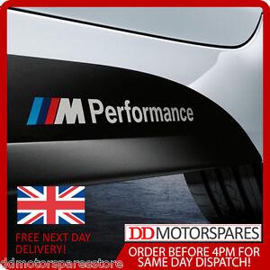 2 x BMW M Performance Side Skirt Sticker Decals Vinyl F30 F10 1 3 & 5 series