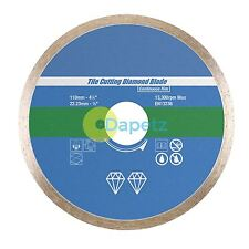 Tile Cutting Diamond Disc Continuous Rim Blade 110mm x 22.23mm