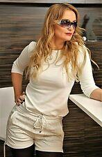 Pantalones deportivos hechos de cuero súper blando cuero blanco cortos pantalones para damas