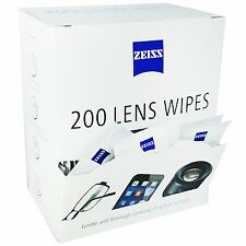 Zeiss 200 Lens Wipes Glasses Phone Tablet Screen Display Pre-moistened Cleaning