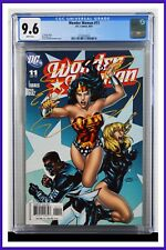 Wonder Woman #11 CGC Graded 9.6 DC September 2007 White Pages Comic Book.