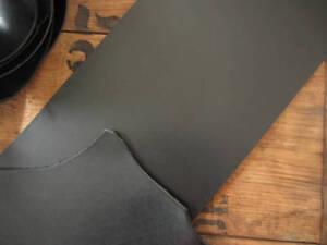BLACK FULL GRAIN 3-3.5mm (8-9 oz) VEG TANNED LEATHER PIECE VARIOUS SIZES craft