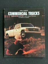 New Listing1994 Chevrolet Commercial Truck Brochure Pickup S-10 Van Blazer Suburban StepVan