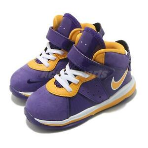 Nike LeBron VIII TD 8 Lakers James LBJ Purple Gold Toddler Infant CT5116-500