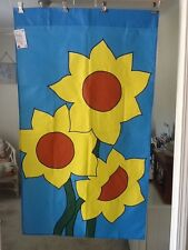 Sunflower Spring / Summer Flower Garden Large Handmade Decorative Flag