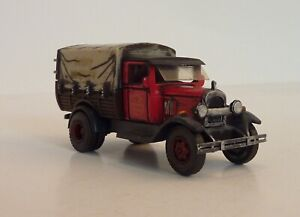 Delivery Truck Red Covered HO Scale HO-Machinery-Master 1/87 BUILT Gritty