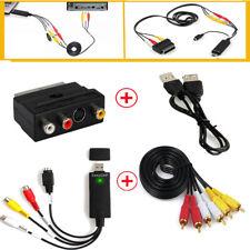 USB 2.0 Video Audio VHS To DVD Converter Capture Card Adapter Windows 7 8 10 Xp